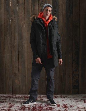Winter coat - washed black