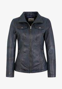 7eleven - PERUGIA  - Leather jacket - navy - 3
