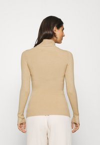 Anna Field - BASIC- RIBBED TURTLE NECK - Strikpullover /Striktrøjer - sand - 2