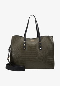 TWINSET - CROCO UNLINED - Tote bag - military - 6