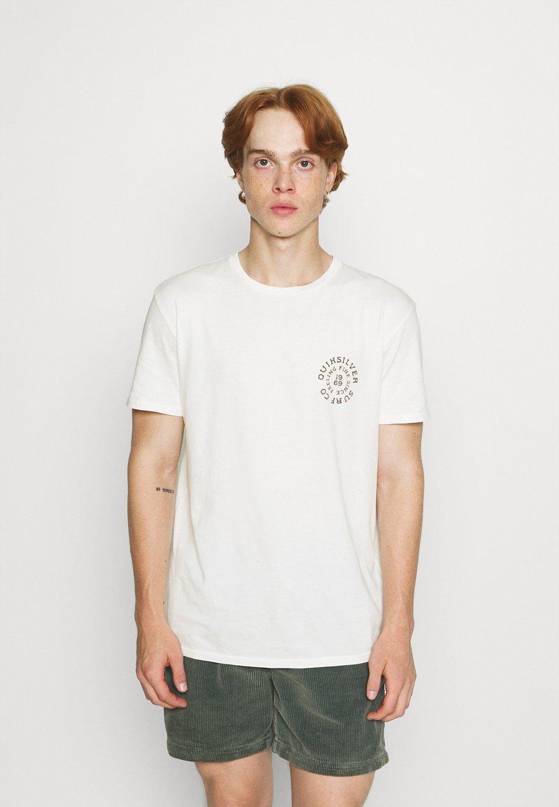 Quiksilver - CAUTIONARY TALE - Print T-shirt - antique white