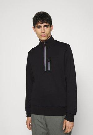 REG FIT ZIP TOP - Sweatshirt - black