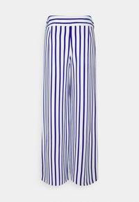 Lauren Ralph Lauren - MARGIT WIDE LEG PANT - Kalhoty - sapphire star/white - 1