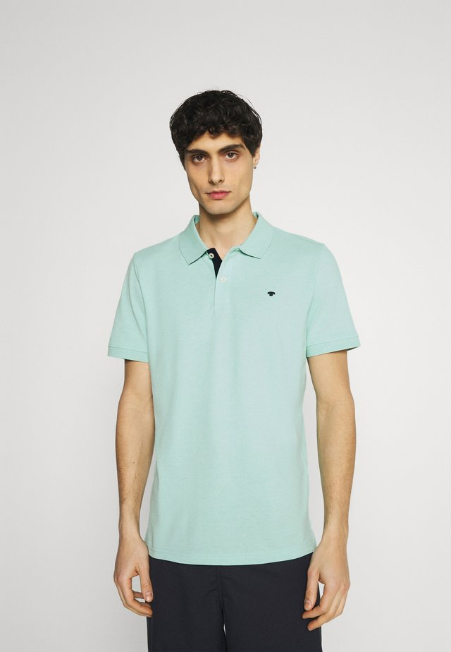 BASIC WITH CONTRAST - Polo - lucite green white melange