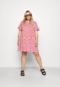 Simply Be - FRILL SLEEVE SMOCK DRESS - Jersey dress - pink - 1