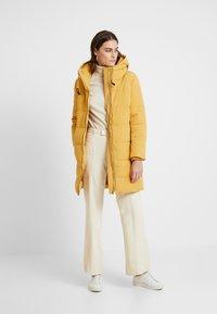 Esprit - PADDED COAT - Płaszcz zimowy - amber yellow - 1