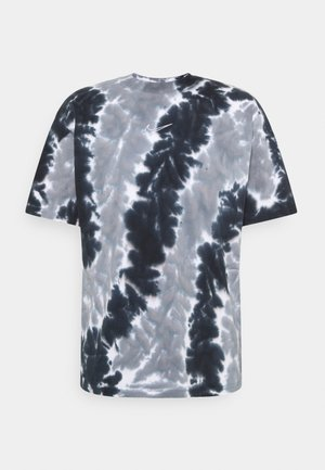 TEE WILD TIE DYE - Print T-shirt - white/cool grey/black