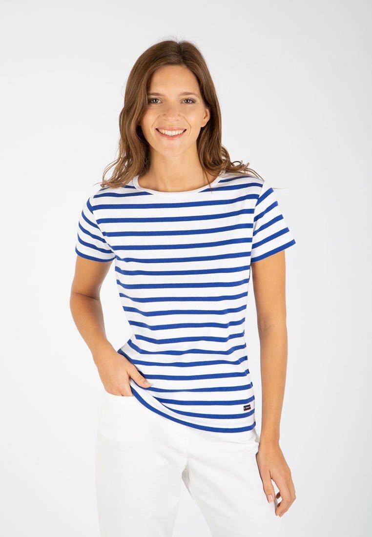 Armor lux - MORGAT MARINIÈRE - Print T-shirt - blanc/etoile