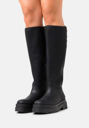 LOVE  - Platform ankle boots - black