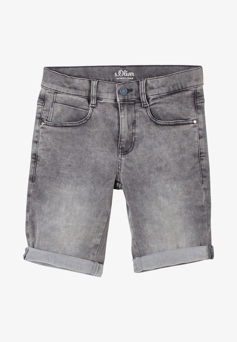 s.Oliver - SEATTLE - Denim shorts - grey