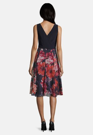 MIT BLUMENPRINT - Day dress - dark blue/pink