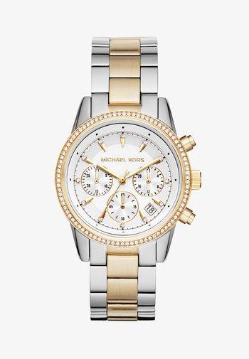 RITZ - Chronograph watch - silver-coloured/gold-coloured