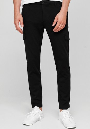 SUPER STRETCH ECKHART - Cargo trousers - black