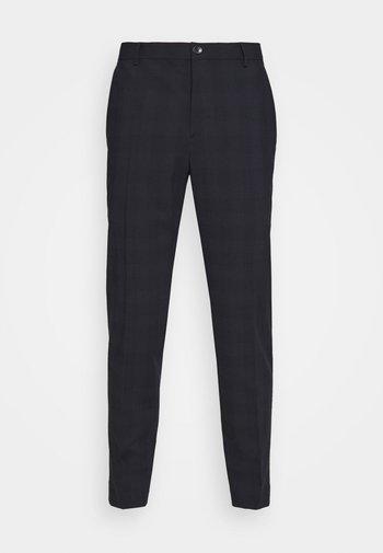 BI-STRETCH SUBTLE CHECK PANT - Kalhoty - navy