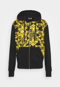 Versace Jeans Couture - PRINT LOGO BAROQUE - Zip-up sweatshirt - black - 6