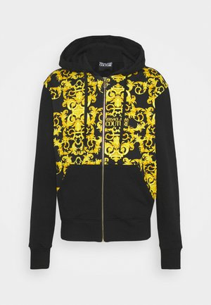 PRINT LOGO BAROQUE - veste en sweat zippée - black