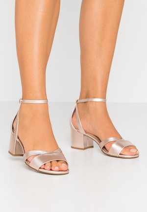 LEATHER - Sandalias - rose gold