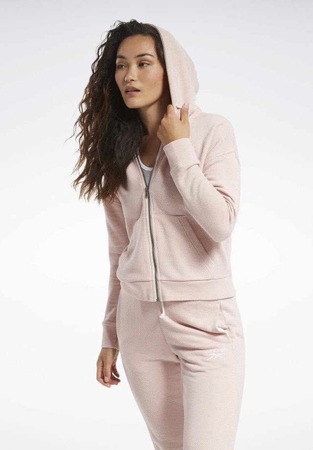 Training Essentials Logo Hoodie - Felpa aperta - Pink