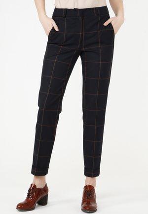 Trousers - blau/ braun