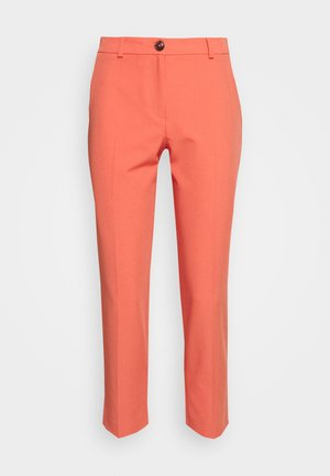 ELASTIC BACK BUTTONED ANKLE GRAZER TROUSER - Broek - coral