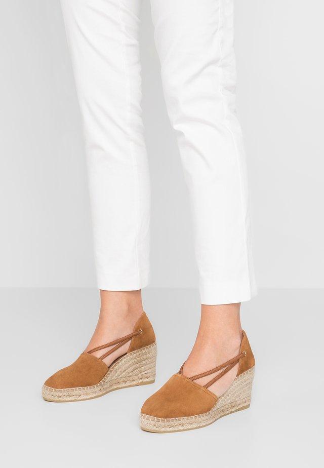 ANIA - Platform heels - cuero