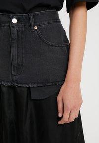 MM6 Maison Margiela - Áčková sukně - black - 5