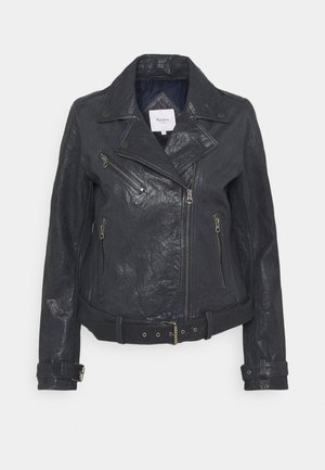 AMELIA - Leather jacket - admiral