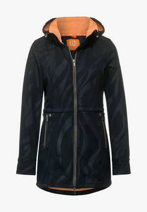 MIT ZEBRAMUSTER - Winter coat - blau