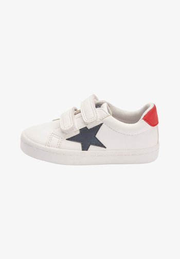 BLACK DOUBLE STRAP STAR  - Trainers - white