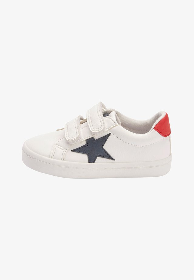 BLACK DOUBLE STRAP STAR  - Sneakers laag - white