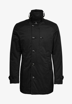 PADDED TRENCH - Halflange jas - dk black