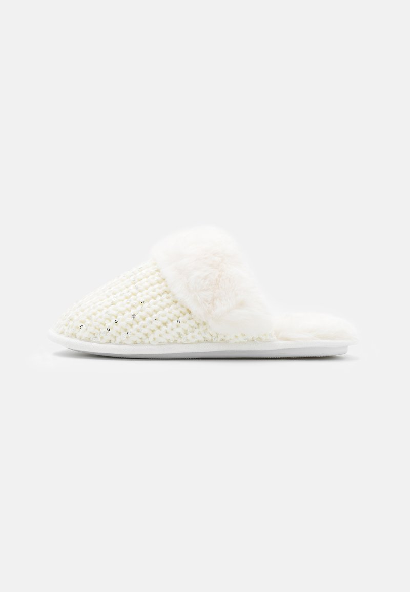 New Look - NEQUIN SEQUIN MULE - Slippers - offwhite
