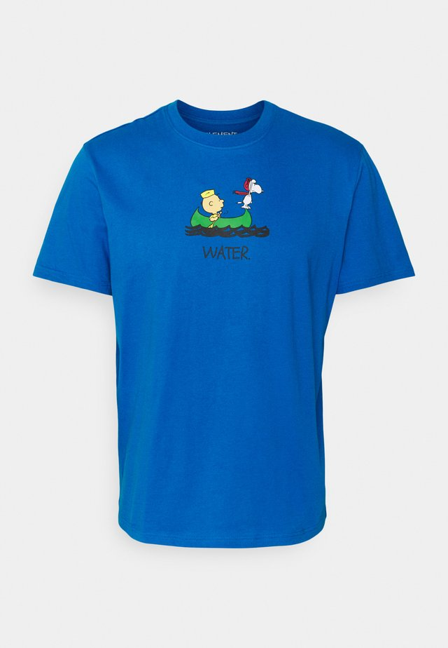 PEANUTS - T-shirts med print - imperial blue
