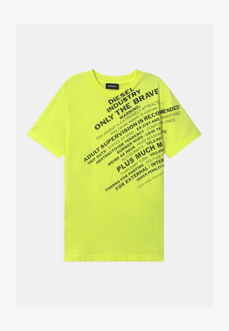 Diesel - MAGLIETTA UNISEX - Print T-shirt - lime fluo
