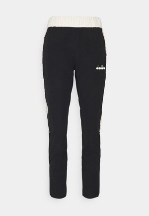 PANTS CHALLENGE - Tracksuit bottoms - black/mahogany rose