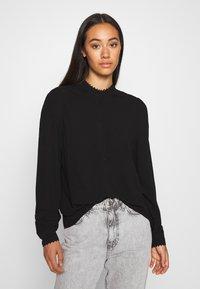 Vero Moda - VMESTHER - Button-down blouse - black - 0