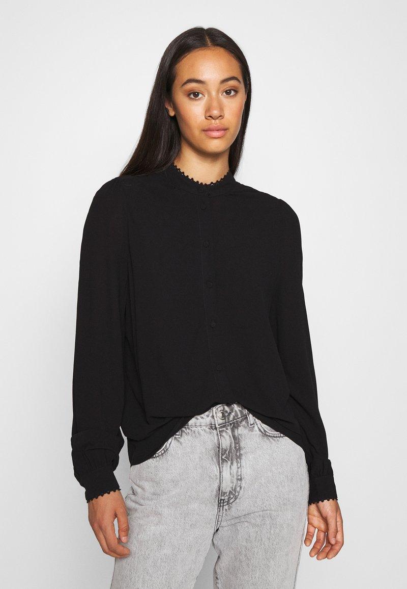Vero Moda - VMESTHER - Button-down blouse - black