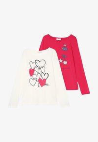 OVS - PRINT 2 PACK - Långärmad tröja - snow white/rose red - 3