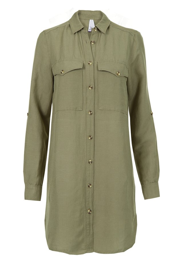Overhemdblouse - light olive