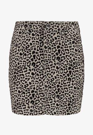 LADIES SKIRT - Denim skirt - grey