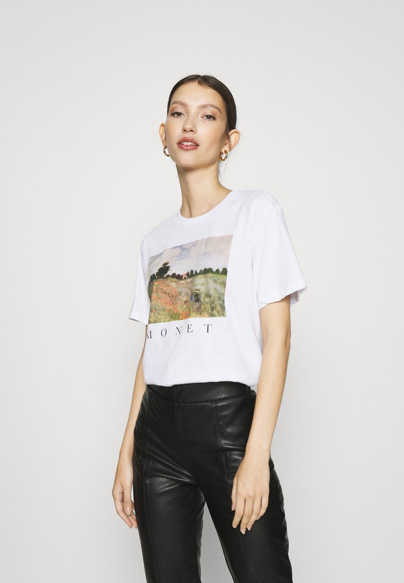 Even&Odd - Print T-shirt - white