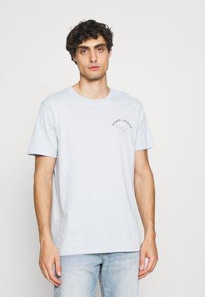 SLHCARTER O NECK TEE - Print T-shirt - ballad blue