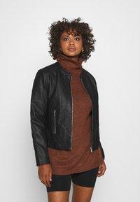 b.young - ACOM JACKET - Faux leather jacket - black - 0