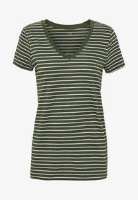 GAP - Print T-shirt - olive/white - 5