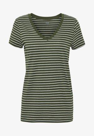 Camiseta estampada - olive/white