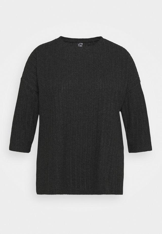 VMTILDA 3/4 LOOSE  - T-shirt à manches longues - dark grey melange