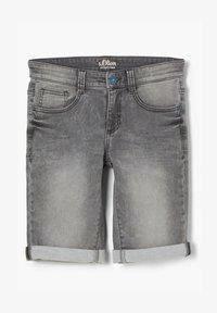 s.Oliver - SLIM - Denim shorts - grey - 1