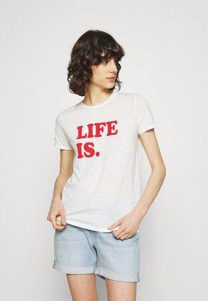 NEKOJA - Print T-shirt - off-white