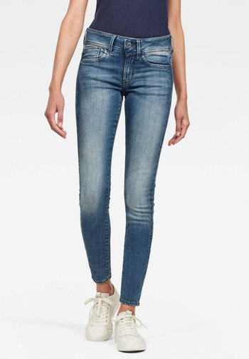 LYNN MID SKINNY - Jeans Skinny Fit - antic blue
