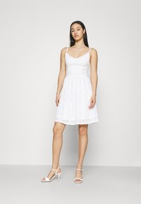 ONLY - ONLNEW ALBA SMOCK MIX DRESS - Cocktail dress / Party dress - bright white - 1